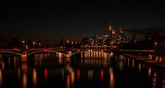 Frankfurt Skyline (baridue) Tags: frankfurt francoforte bluhour skyline germany effettoseta d7100 nikon colour coloir colori