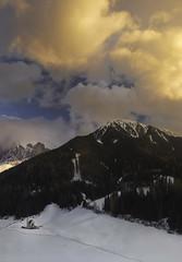 La foto del puzzle (el_farero) Tags: dolomiti sangiovanni giovanni church mountains sunset landscape clouds chiesetta farero snow alone cold alps
