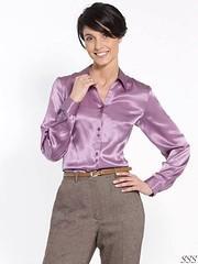 Blouse (Ten Million Smurfs) Tags: blouse blousefetish shirt sexy satin