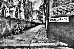 Amen Corner, Newcastle-Upon-Tyne (dlsmith) Tags: hdr photomatix bw byn newcastle tyneside amencorner gritty upnorth monochrome monochromatic church cobbles grain