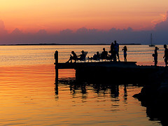 the_way_we_were (gerhil) Tags: travelphotography travel landscape scenic sunset sundown twilight silhouette pier people gathering lifestyle relax tranquil peaceful relaxing serene water sky color reflection sea ocean bay gulfofmexico keylargo florida ohiophotographer clevelandphotographer mood nostalgic event