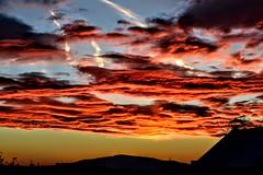 morning sky (jvstynakovalczyk) Tags: sky clouds sun sunrise morning red pink oragne black nikon nikond3100 polska poland view mountain blue sunset