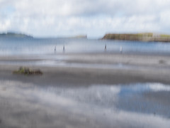 silhouettes (objet introuvable) Tags: scotland skye silhouette mer sea nuages clouds sand sable plage beach flou reflets couleurs colors pastel nature lumixgx8 blur art mystery mystère abstract impressions