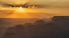 Smoky Silhouettes (Kirk Lougheed) Tags: arizona coloradoplateau desertview grandcanyon grandcanyonnationalpark southrim usa unitedstates canyon haze landscape nationalpark outdoor park rim sky smoke summer