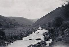Badgworthy Water Doone Valley Malmsmead Devon 1950 (Bury Gardener) Tags: bw blackandwhite oldies old snaps scans england uk britain landscape 1950s 1950 devon somerset