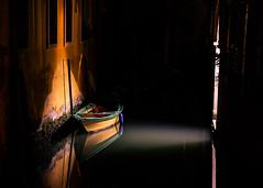 Light Waves (Prestidigitizer) Tags: venice canal water boat light floating night evening italy chiaroscuro pentaxk3 sigma18250mmdcmacro
