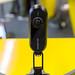 Nahaufname der 360 Grad Kamera Insta360 One fixiert auf einer Drohne an der Photokina in Köln