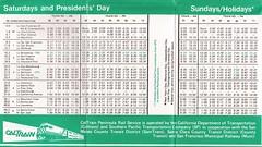CALTRAINtt03APR88 05 (By Air, Land and Sea) Tags: train rail railway railroad commuter suburban california sanfrancisco sanjose pcs peninsulacommuteservice timetable schedule caltrain