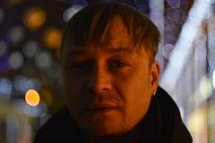 _DSC5093 (Aris_Totel) Tags: light lights shing blinke man male smoke city bokeh bulb