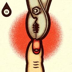 Inktober - Day #11 - Cruel. (alexeizm{alexei vella}) Tags: texture experiment vector vectorart personal illustrator illustration art graphic design test retro alexei alexeivella inktober inktober2018 inktoberday11 cruel