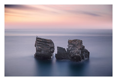 Separated (picturedevon.co.uk) Tags: meadfoot beach torquay torbay devon uk le sunrise seascape sky sea color yellow orange blue wildlife animal birds seagull rock water nisi ndfilter canon wwwpicturedevoncouk