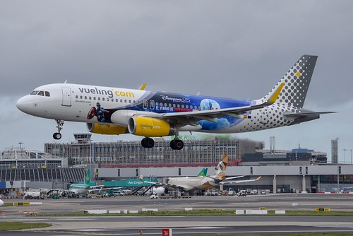 EC-MYC A320-232 Vueling Disneyland Paris Livery - a photo on