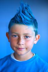 The boy in blue (Eric Londgren Photography) Tags: blue mohawk bluemohawk oakland canon5dmark3 canon85mm18