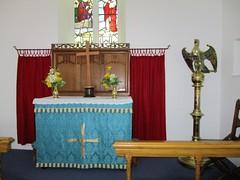 Llanina - St Ina's (pefkosmad) Tags: stina llanina parishchurch wales churchinwales christianity religion church ruraldeaneryofglynaeron dioceseofstdavids ceredigion victorian victorianbuilding interior altar