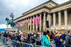 Liverpool's Dream (Tony Shertila) Tags: jeanluccourcoult liverpooldream liverpoolsdream newbrighton royaldeluxe england liverpool britain europe geo:lat=5340851667 geo:lon=297946833 geotagged giants marionettes merseyside puppets wirral ©2018tonysherratt unitedkingdom 20181004164246liverpooldreamgiantslr stgeorgeshall indoor hammock crowds