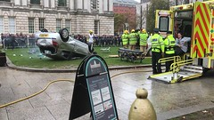 Emergency Services Road Traffic Collision Demonstration at Belfast City Hall, 16.10.2018 (John D McDonald) Tags: belfast cityhall belfastcityhall belfastcityhallgrounds donegallsquare donegallsquarenorth northernireland ni ulster geotagged iphone appleiphone iphone7plus appleiphone7plus reenactment reconstruction emergency emergencyreconstruction rta roadtrafficaccident roadtrafficcollision rtareconstruction rtcreconstruction roadtrafficaccidentreconstruction roadtrafficcollisionreconstruction emergencyservice emergencyservices emergencyservicereconstruction emergencyservicesreconstruction ambulance stretcher renault clio renaultclio car fireandrescueservice northernirelandfireandrescueservice firerescueservice northernirelandfirerescueservicenifirerescueservice nifrs
