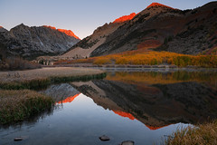 From a little spark may burst a flame… (ferpectshotz) Tags: northlake morning firstlight sunrise fallfoliage autumn fall fallcolors lake alpinelake mountains sierra sierranevada bishop monocounty elitegalleryao bestcapturesaoi