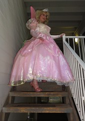 A lot scarier than it looks! (rgaines) Tags: costume cosplay crossplay drag fairyprincess fairygodmother coxfarms funny