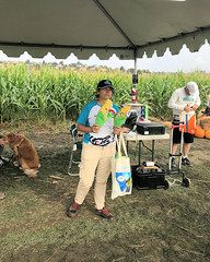 026 Clare Gives Out The Awards (saschmitz_earthlink_net) Tags: 2018 california temecula bighorsefeedandmercantile cornmaze orienteering laoc losangelesorienteeringclub corn
