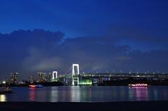 Odaiba, Tokyo, Japan (runslikethewind83) Tags: odaiba japan tokyo city asia pentax night bay rainbowbridge bridge