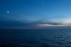 A blue hour (Marilely) Tags: blue blau moonlight mondlicht clouds wolken ocean oceaan meer water wasser late evening niederlande netherlands abend laat avond spiegelung reflection