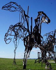 #37 The last charge 2017 clip (spelio) Tags: actsep2018shawyassvalleynsw canberra australia sep 2018 rural art sculpture murrumbateman
