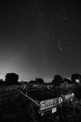 Mercury under the Stars (wilbias) Tags: stars sky vertical night morning ontario southern car mercury vintage old abandoned