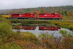 Danby, Vermont (UW1983) Tags: trains railroads vermontrailway fallcolors freighttrains gp402 sd70m2 danby vermont