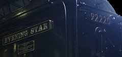 Evening Star Name & Number (Ravensthorpe) Tags: york rail nrm trains steam 9f signs