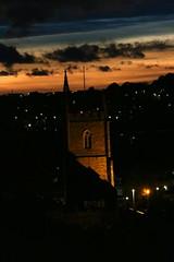 Evening Sunset in Westbury-on-Trym (charliejb) Tags: westburyontrym bristol 2018 sunset sun clouds church westburychurch horizon lights dusk