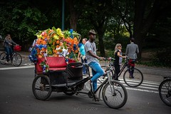A ride through Central Park, New York. (Theresa Hall (teniche)) Tags: flowers colorful colourful host cycle tourist bike bicycle usa unitedstatesofamerica newyorkcity newyork centralpark teniche theresahall