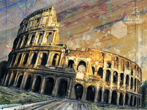 Colosseo Tramonto