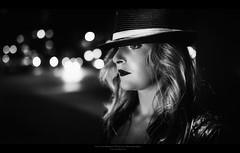 Film Noir XXIX (Passie13(Ines van Megen-Thijssen)) Tags: kiki filmnoir night nightscape portrait portret weert netherlands canon sigma35mmart blackandwhite bw sw zw zwartwit monochrome monochroom monochrom inesvanmegen inesvanmegenthijssen