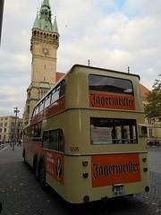 JÄGERMEISTER Bus vorm Rathaus (hmboo Electrician and Adventurer) Tags: platzderdeutscheneinheit büssing jägermeister doppeldecker 6515 kvg rudi