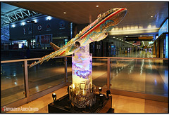 DENTRO DEL AEROPUERTO. INSIDE THE JOHN F. KENNEDY AIRPORT. NEW YORK CITY. (ALBERTO CERVANTES PHOTOGRAPHY) Tags: jonhfkennedy aeropuerto airport newyork nyc usa inside indoor outdoor blur creative luz light color colores colors brightcolors retrato portrait photoborder photography avion airplane jet plane air airliner lines vehicle fly flying jumbojet american colorlight reflejo reflection photoart brillo colours colornight nightscape