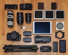 Tools of a landscape photographer (mad_airbrush) Tags: 5d 5dmarkiii 5dmkii 5dmarkii 35mm ef35mmf2isusm 70200mm 70200mmf4lisusm 2470mm 2470mmf28lusm 1740mm ef1740mmf4l ef2470mmf28lusm haida filters haidafilters nd ndfilter polfilter drone drohne dji djimavicpro mavicpro rollei citytraveler rolleicitytraveller ipad apple gear ausrüstung landscapephotographer photogear whatsinyourbag