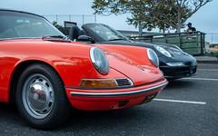 Twin Porsches Separated by 50 Years (and 250 HP) (mjhbower) Tags: carsandcoffeemalibu carscoffee steelies carsandcoffee malibu