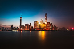 Shanghai city skyline in the morning, Shanghai China (Patrick Foto ;)) Tags: architecture asia attraction beautiful building business central china chinese city cityscape copyspace district downtown dusk evening famous finance financial highrise huangpu landmark light lujiazui metropolis modern morning night office oriental panorama pearl pudong reflection river scene shanghai sky skyline skyscraper tall tourism tower travel twilight urban view water waterfront shanghaishi cn