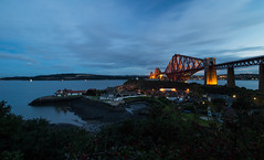 Forth Bridge_North Queensferry (marchislop) Tags: forthrailbridge firthofforth forthbridge queensferry northqueensferry fife calm dusk twilight sunset train railway scotland boat dock pier harbour carlingnosepoint