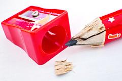 pencil and sharpener (Sabinche) Tags: sabinche perfectmatch macromondays pencil sharpener red macro
