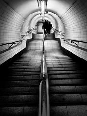 Going underground - explored (Joseph Pearson Images) Tags: underground subway tube metro london embankment blackandwhite bw mono stairs steps