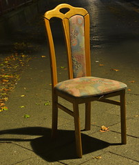 Vacuous Interview (Robin Shepperson) Tags: chair pavement street night longexposure urban berlin germany d3400 nikon seat autumn colours empty pattern
