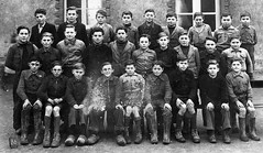 Class Photo (theirhistory) Tags: children boy kid clogs shoes boots school class form pupils wellies