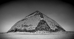 The Bent Pyramid (UnchartedLens) Tags: pyramid egypt ancient black white desert beach sand architecture history old blocks building ruin travel destination famous