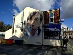 Mark E Smith mural in Prestwich (stillunusual) Tags: manchester mcr city england uk markesmith mes prestwich chipsno8 chippy fishchips manchesterstreetphotography streetphotography cityscape urban urbanscenery manchesterstreetart streetart urbanart urbanwalls wall wallart wallporn graffiti graffitiporn mural akse aksep19 2018