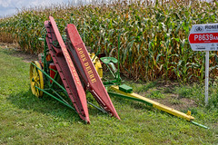 John Deere Corn Binder (nikons4me) Tags: johndeere jd equipment machinery vintage old cornbinder corn field iowa ia antiqueacres2018 sonye1855mmf3556oss sonyalphanex7