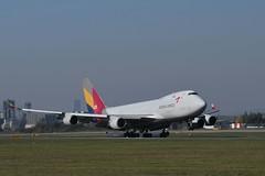 LOWW - Vienna (VIE) - Asiana Cargo - Boeing 747-48EF HL7419 - Flight OZ791 from Seoul (ICN)