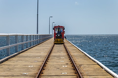 Jetty Train (Jared Beaney) Tags: canon6d canon australia photography photographer travel southwest westernaustralia busselton jetty ocean leadinglines