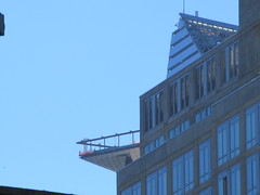 Hudson Yards Tower with Triangle Balcony Platform 2412 (Brechtbug) Tags: 2018 october cloudless sky nyc virtual clock tower from hells kitchen clinton near times square broadway new york city midtown manhattan 10112018 stormy weather building no hanging cumulonimbus blue cumulus nimbus cloud fall hell s nemo southern view ny1