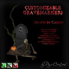 ღ ♡  Gravemarkers - Death by Candy Dk by Page Creations™ ♡ ღ (Raven Page) Tags: halloween props decor mesh spooky scary fog pumpkins gothic goth